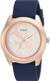 d48dd8aa6dd6d GUESS Women s Stainless Steel Japanese-Quartz Watch with Silicone Strap