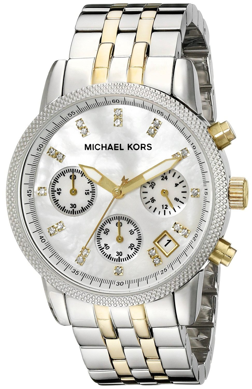 Michael Kors MK5057 Women's Two Tone Chronograph Watch by Michael Kors