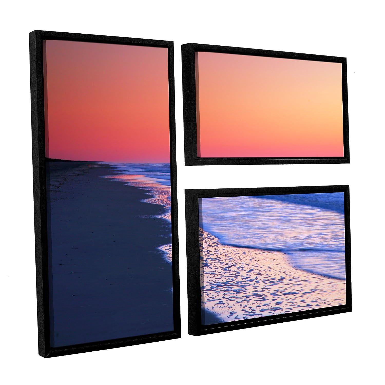 24 x 36 ArtWall 3 Piece Steve Ainsworths Lavender Sea I Floater Framed Canvas Flag Set