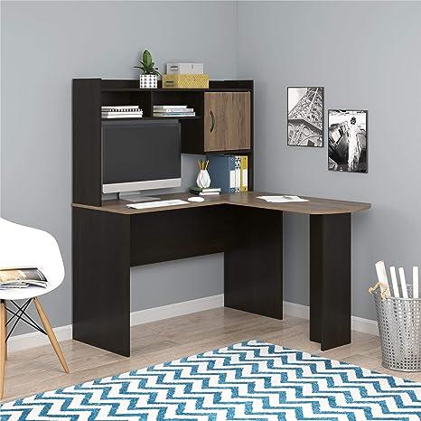 Mainstays Student Desk - Home Office Bedroom Furniture Indoor Desk - Easy  Glide Accessory Drawer (Desk Only, Rodeo Oak) (L-Shaped Desk, ...