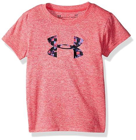 e96d2d88d7 under armour Baby Girls Overlay Print Logo Short Sleeve t-Shirt ...