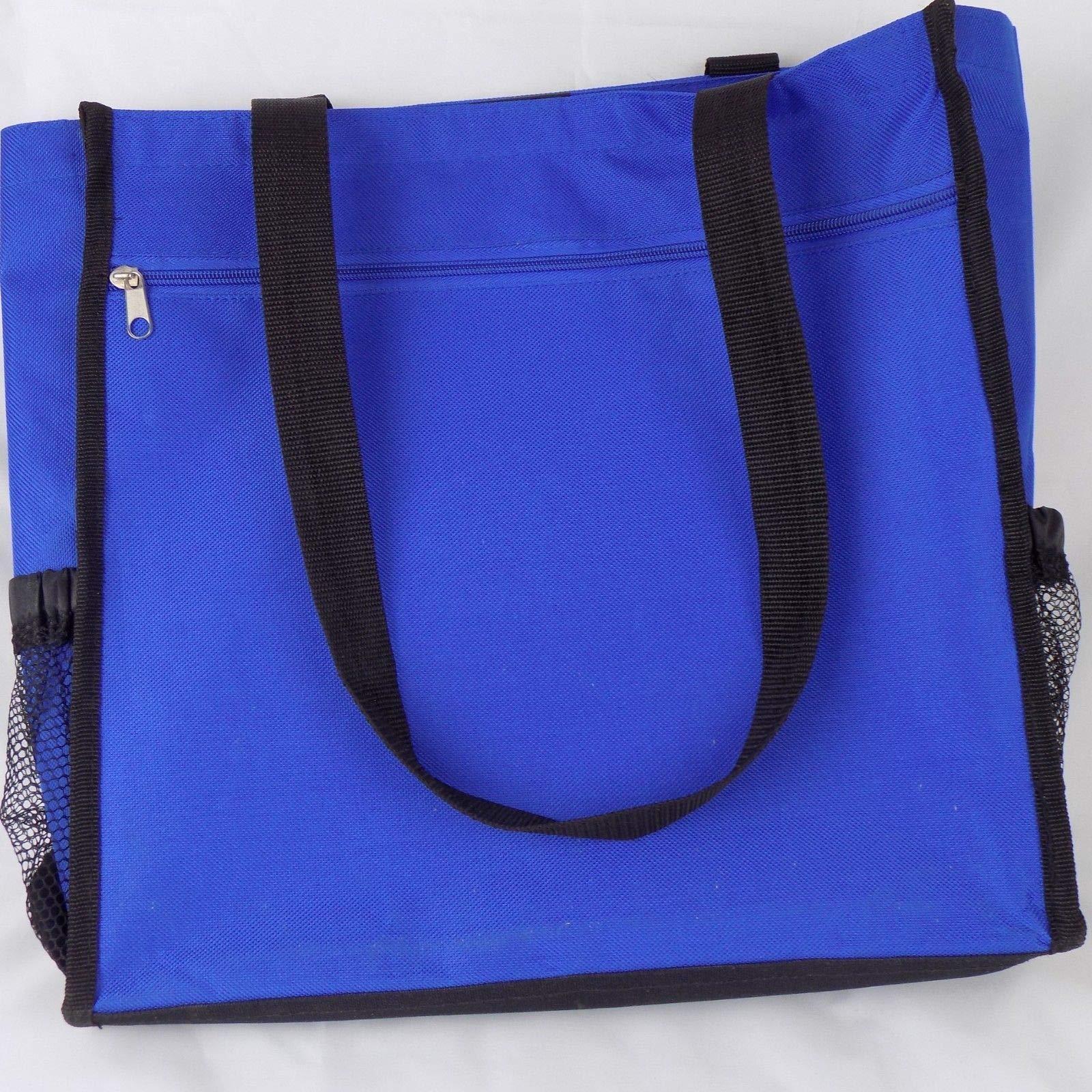 Scrapbook Paper Tote Blue Bag Inner Dividers 14'' W x 13.25'' H x 4.5'' D Strap