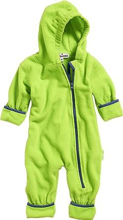 Playshoes Baby Fleece-Overall, atmungsaktiver Unisex-Jumpsuit für Jungen und Mädchen mit langem Reißverschluss und Kapuze, fa
