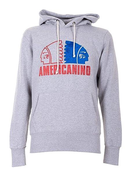 rivenditore di vendita da7bd a1130 Americanino Felpa Cappuccio, Logo Gommato, Manica Lunga ...