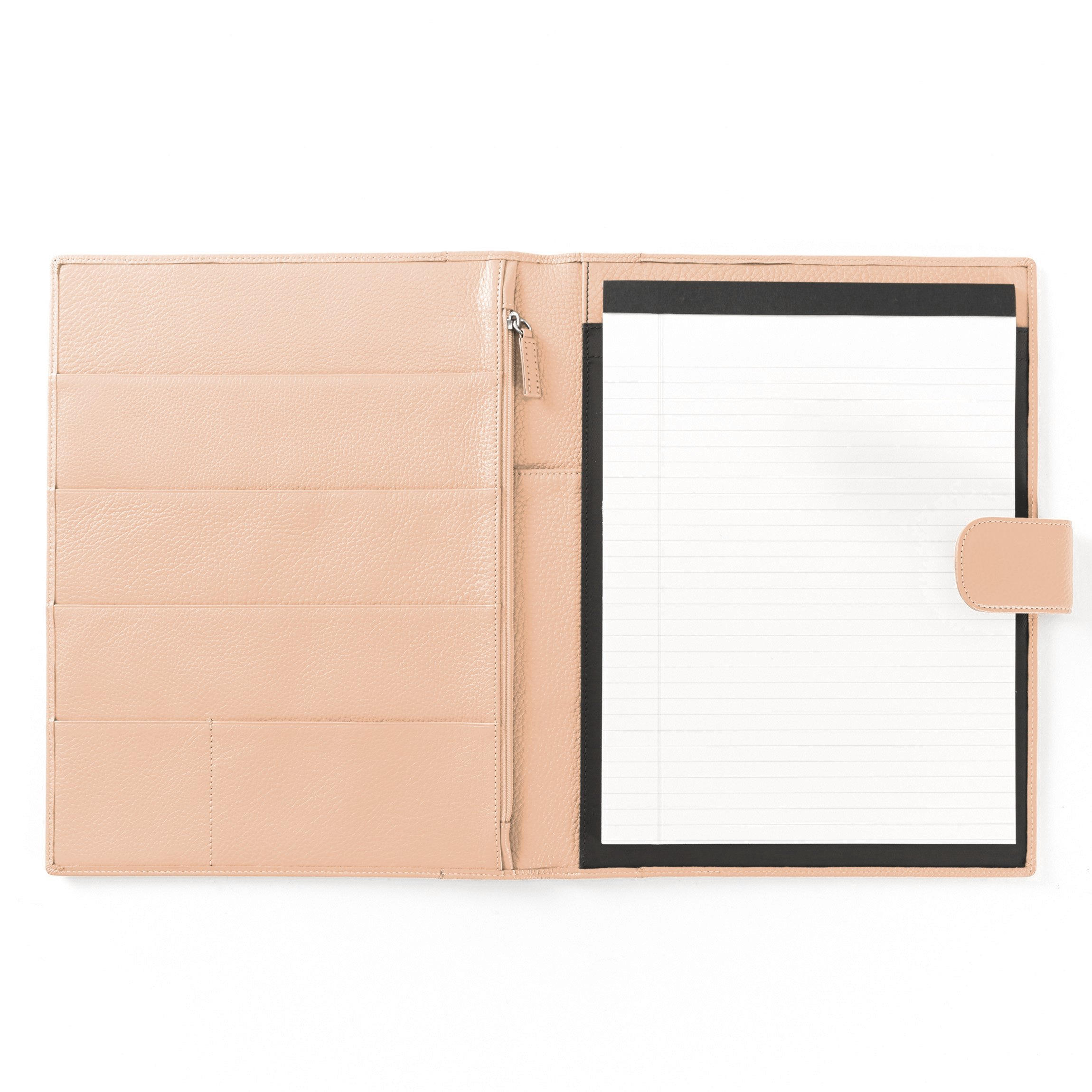 Leatherology Organizer Portfolio with Tablet Pocket & Magnetic Closure - Full Grain Leather Leather - Rose (pink)