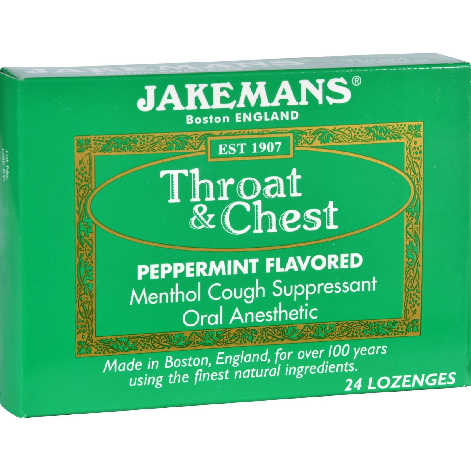 2Pack! Jakemans Lozenge - Throat and Chest - Peppermint - 24 Count - 1 Case