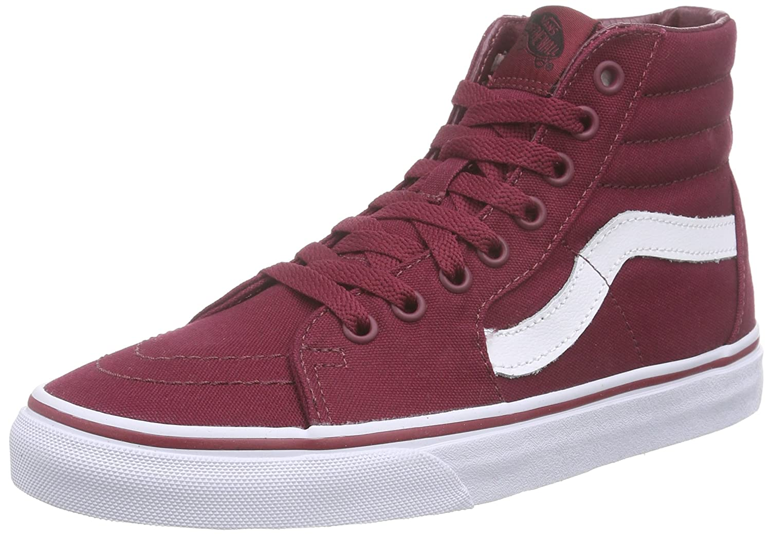 Vans Sk8-Hi Unisex Casual High-Top Skate Shoes, Comfortable and Durable in Signature Waffle Rubber Sole B013PU589O 8 B(M) US|Cordovan/True White
