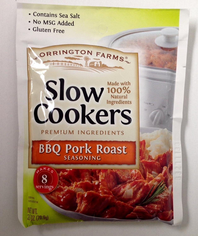 Orrington Farms BBQ Pork Roast Seasoning for Slow Cookers -4/ 2.5oz Packets