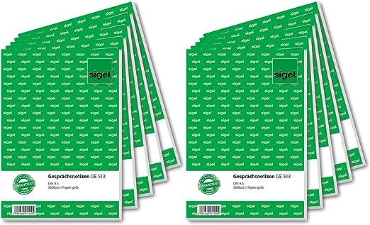 20 x Gesprächsnotiz Made in Germany Gesprächsnotizen Block 50 Blatt DIN A5