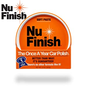 Nu Finish 'Better Than Car Wax' Paste Polish Advanced Top Coat Sealant with Simple Once A Year Application, Perfect Kit for Fiberglass Boats, Motorcycles and Various Appliances