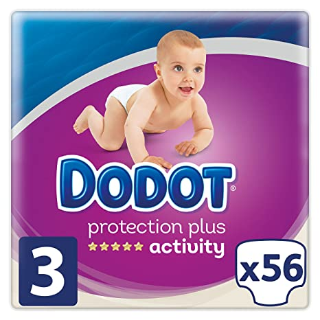 Dodot Pañales Protection Plus Activity, Talla 3, para Bebes de 5-10 kg