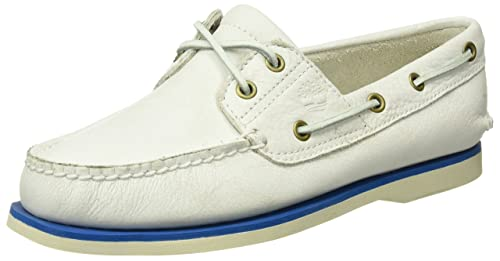 00955440f92e Timberland Men s Classic 2 Eye Boat Shoes White White Mystic 11.5 UK ...