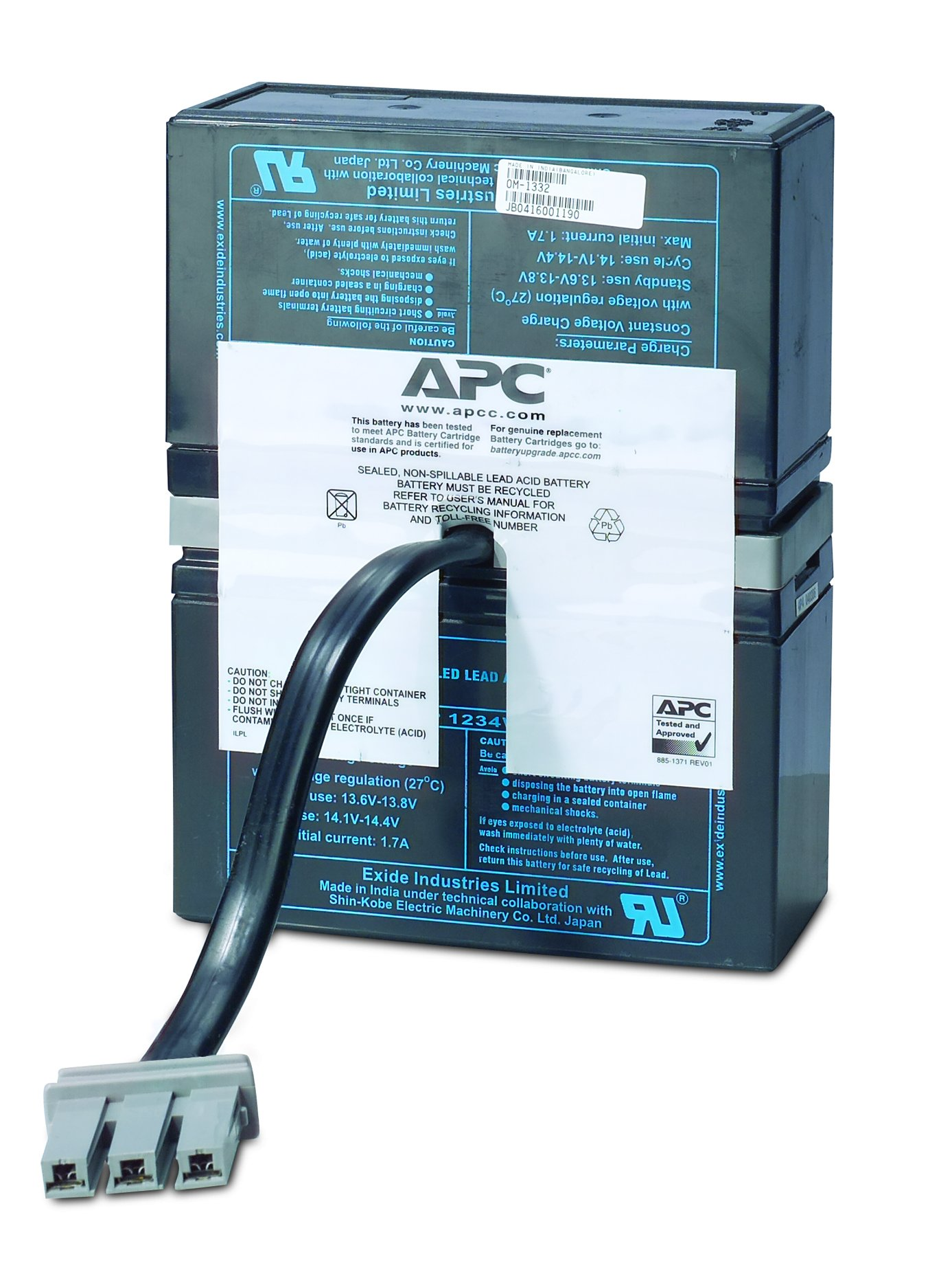 APC UPS Replacement Battery Cartridge for APC UPS Models BR1500, BX1500 and select others (RBC33) by APC