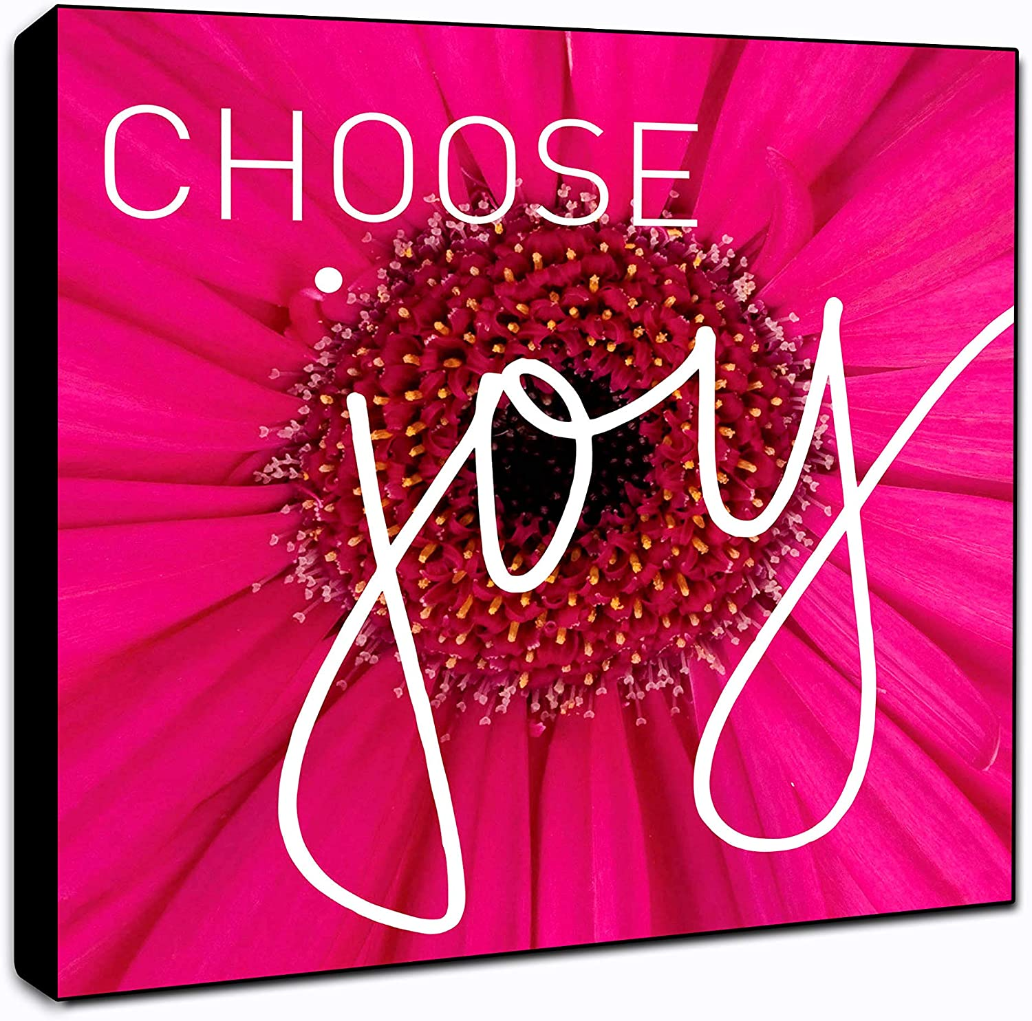 "LACOFFIO Choose Joy Motivational Wall Art Decor Plaque 6"" x 6"" Housewarming Gift Idea"