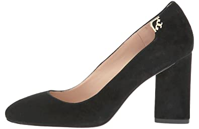bfecb4a4988f Image Unavailable. Image not available for. Color  Tory Burch Women s  Elizabeth 85MM Round Toe Pump Suede Shoes ...