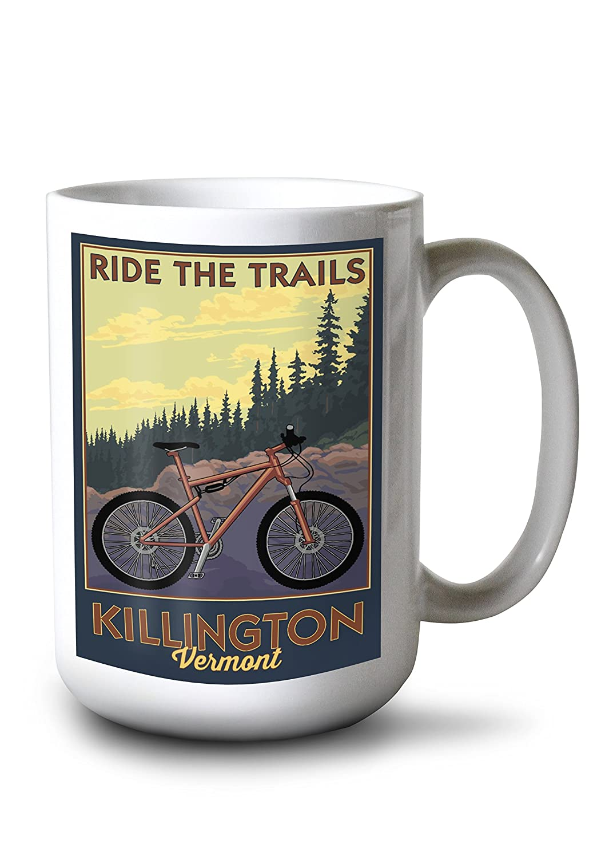 【ラッピング無料】 Killington、バーモント州 – Mug Ride 18 the Trails – Mountain – Bikeシーン( # 2 ) 12 x 18 Metal Sign LANT-76875-12x18M B078C5SBT3 15oz Mug 15oz Mug, 【新作からSALEアイテム等お得な商品満載】:bbe9293d --- 4x4.lt
