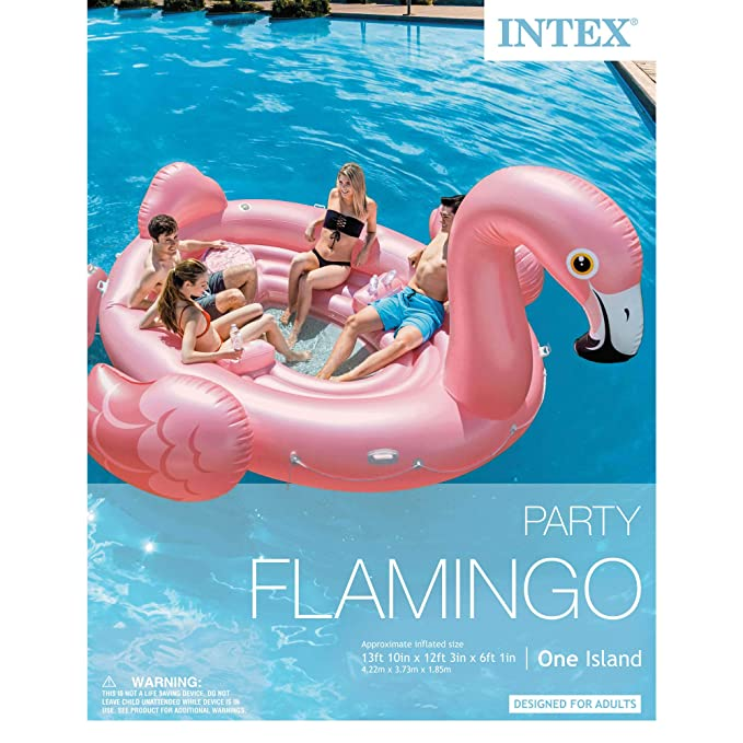 Amazon.com: Intex Flamingo Party Flotador inflable de ...