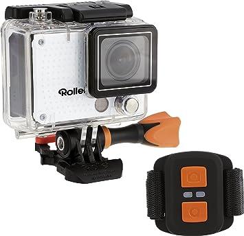 Rollei Actioncam 420 - Cámara Deportiva, resolución de vídeo de 4K, WiFi, Incluye Control Remoto y Carcasa Resistente al Agua (40 m), Color Blanco