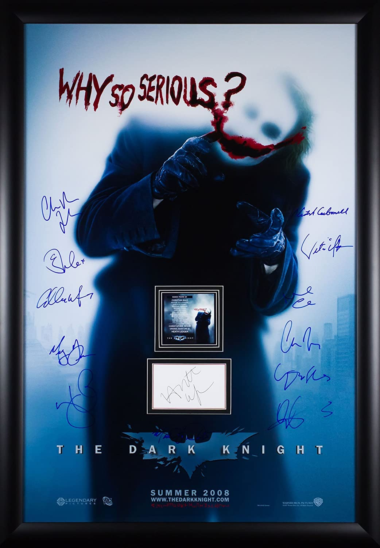 Why So Serious Batman The Dark Knight Rises - Signiertes Filmplakat ...