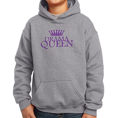 Nutees Drama Queen Disco 80's Theatre Funny Unisex Kids Hoodie Ages 3-15 Years