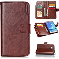 CUSKING Galaxy J7 2016 Case, Leather Flip Bookstyle Case Magnetic Wallet Cover with Card Holder for Samsung Galaxy J7 2016 - Black