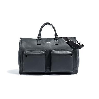 dcdd3700139f93 Amazon.com | Hook & Albert Leather Garment Weekender Bag (BLACK ...