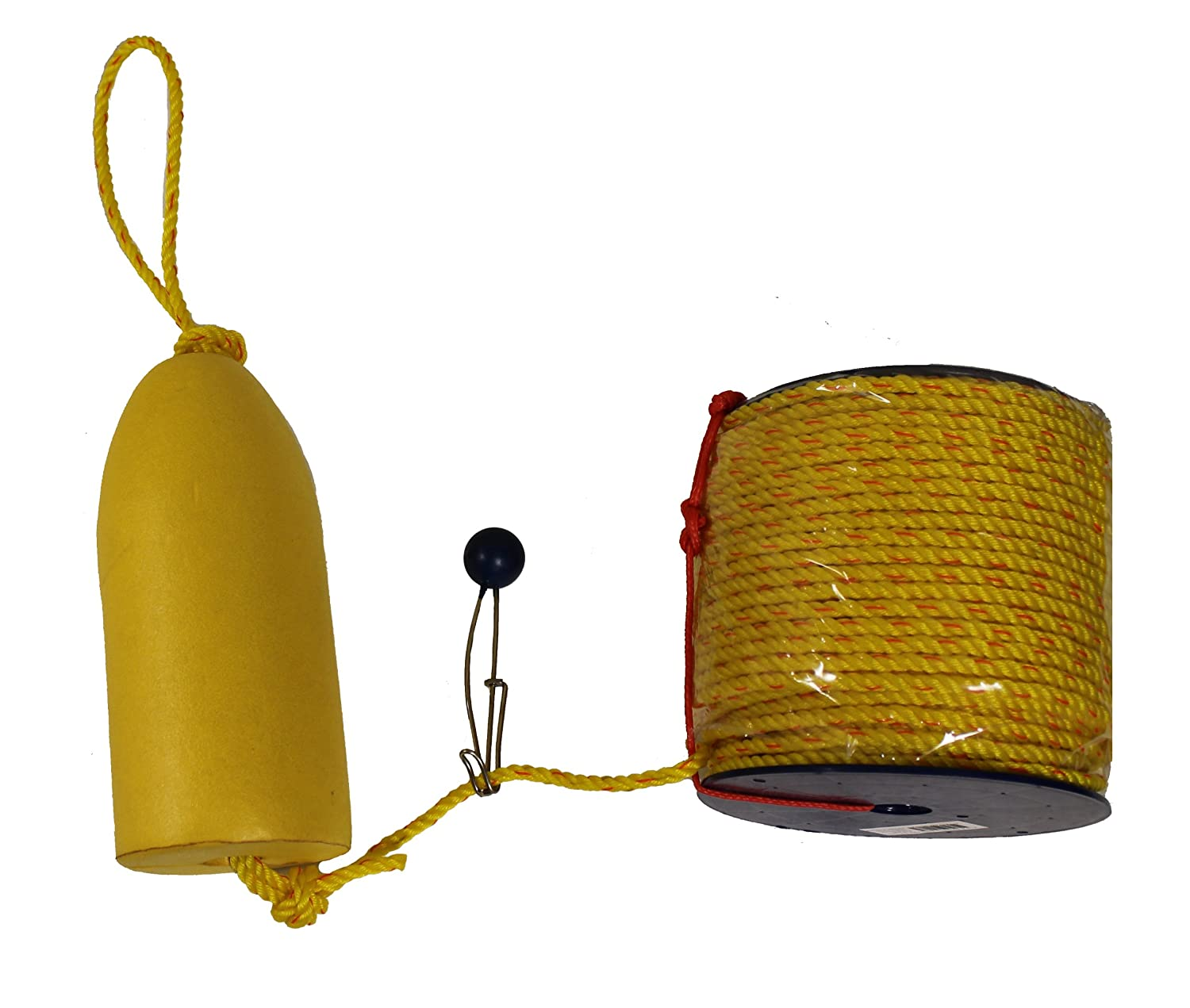 KUFA Sports FYP-400 Float Combo with Shrimp Trap Float and Polyester Rope Coil, 5 x 11-Inch