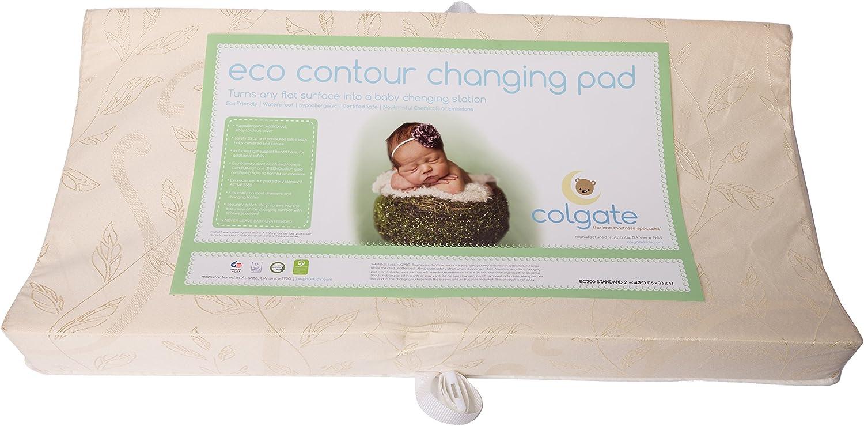 Colgate EcoPad 輪郭変更パッド 長さ33インチ x 幅16インチ x 厚さ4インチ ダマスククロス防水カバー 両面 ポータブル チェンジステーション アメリカ製