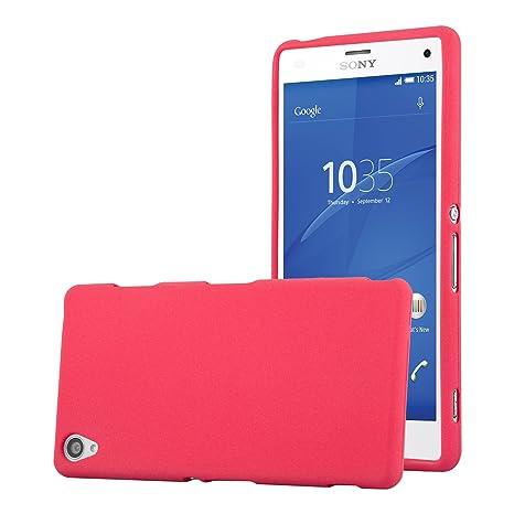 Cadorabo Funda para Sony Xperia Z3 en Frost Rojo - Cubierta Proteccíon de Silicona TPU Delgada e Flexible con Antichoque - Gel Case Cover Carcasa ...