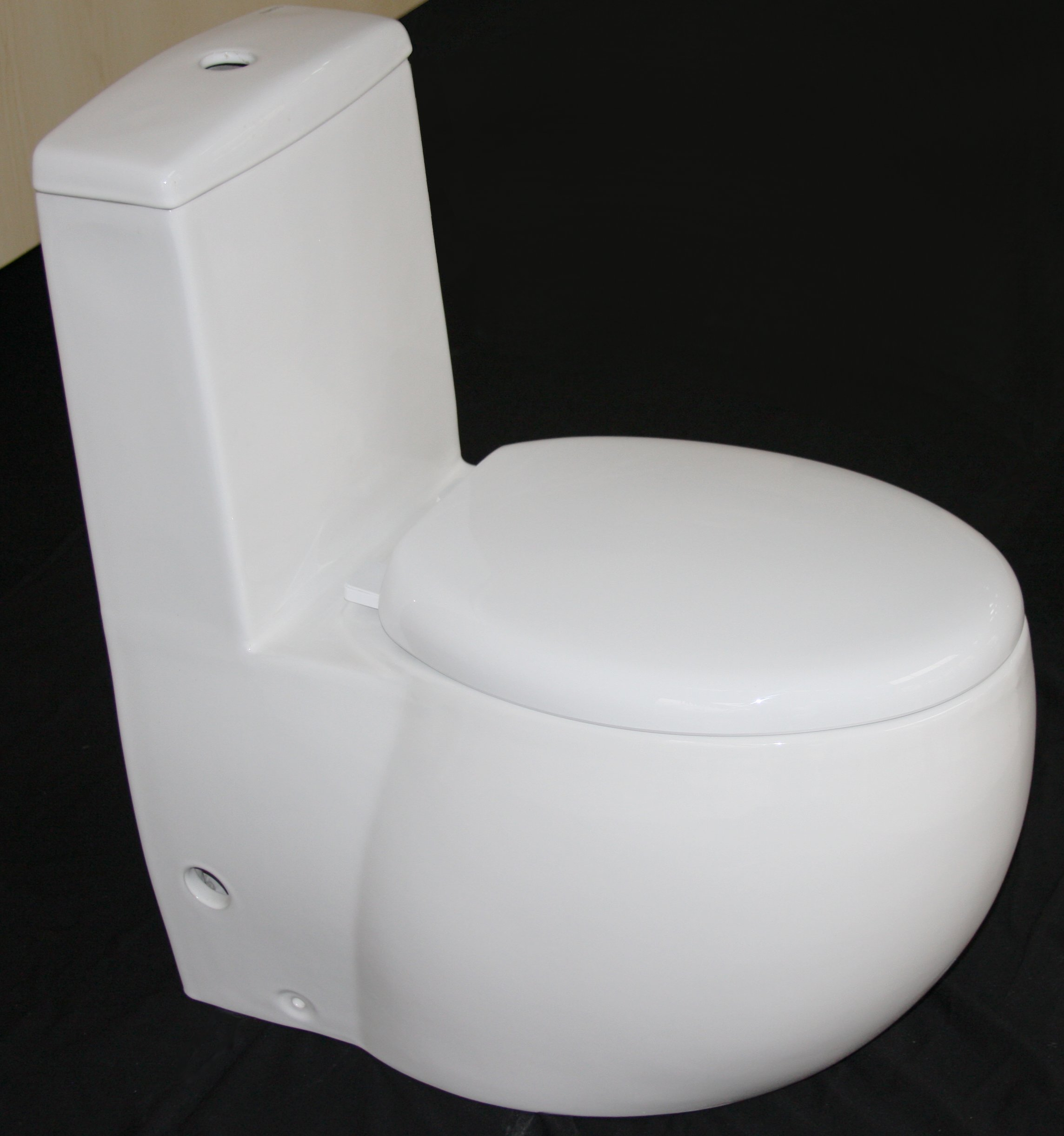 Euroto Luxury Toilet for Bathroom Toilet Bowls, Toilets, and Toilet Seats. Smart Toilet (Compact Elongated, Dual Flush(Siphonic)) by EUROTO (Image #1)