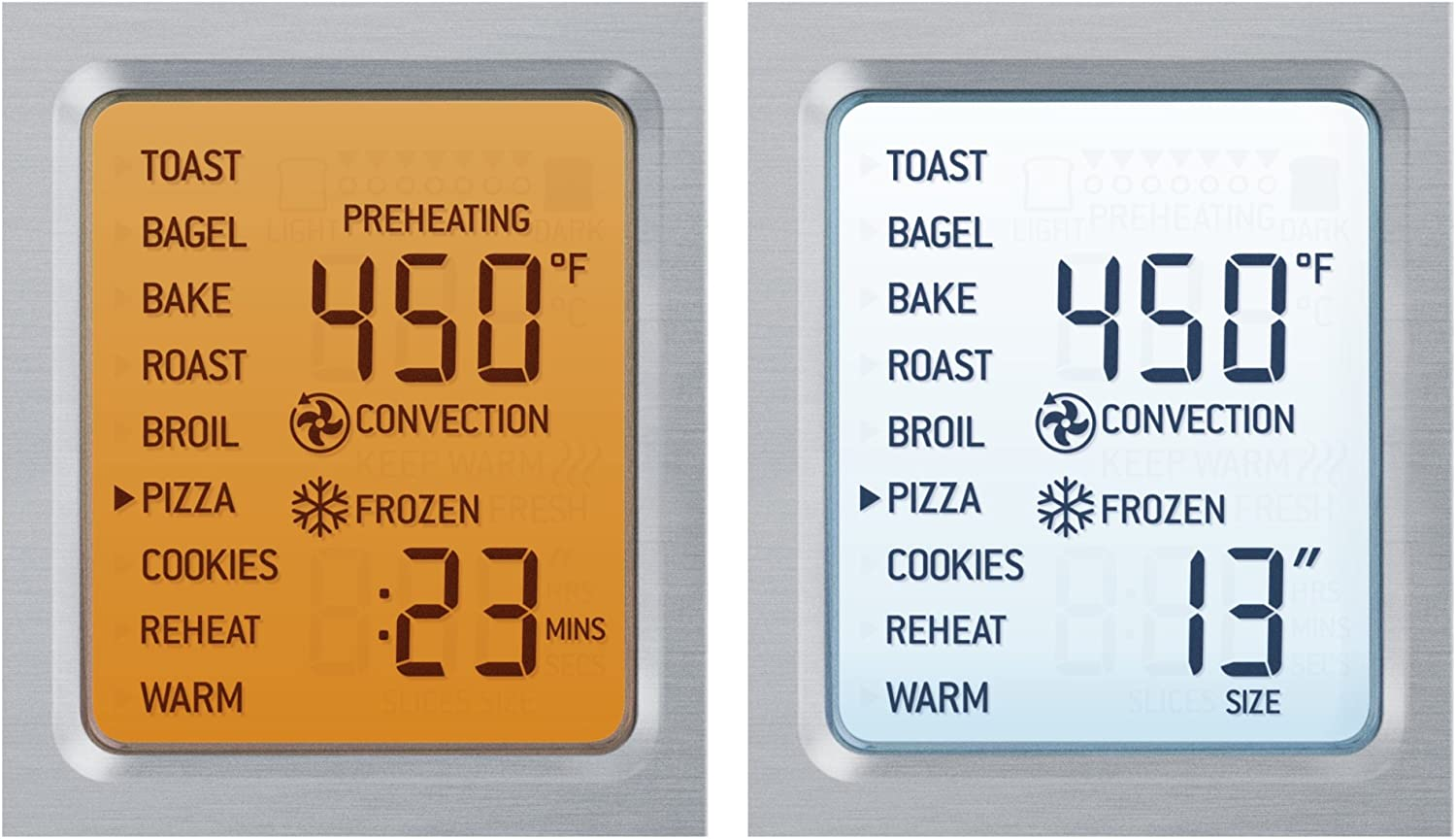breville smart oven pro LCD display