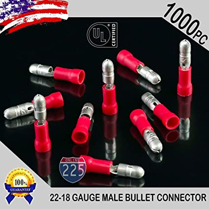 22-18 Bullet Conn Recept Nylon Bullet Connectors 100 Pack