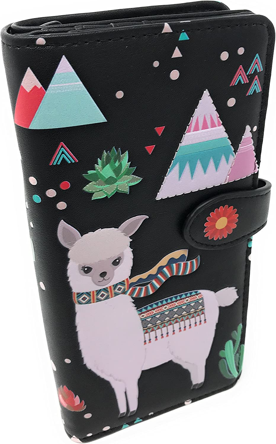 Women's Llama Wallet (Large, Black)