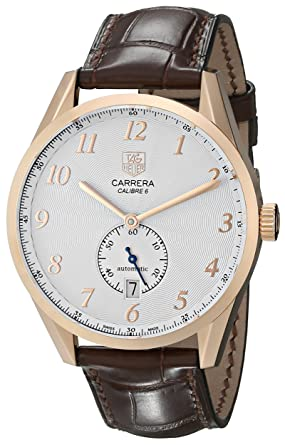 516028c831e Image Unavailable. Image not available for. Color  TAG Heuer Men s  WAS2140.FC8176 Carrera Silver Dial Leather ...