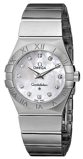 Omega 123.10.27.60.55.001 - Reloj para mujeres, correa de acero inoxidable
