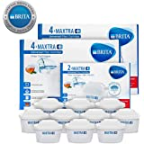BRITA MAXTRA+ 10-Pack Water Purifier Filter Cartridge Replacement Refill Kitchen Accessory - White
