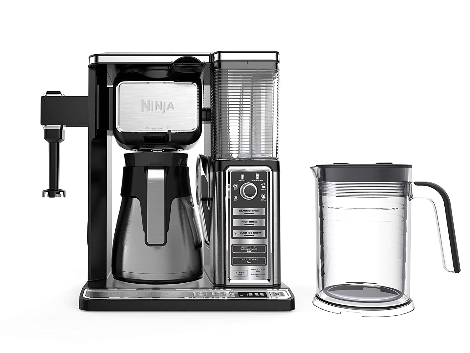 Ninja Coffee Bar Auto-iQ Programmable Coffee Maker with 6 Brew Sizes, 5 Brew Options, Milk Frother, Removable Water Reservoir, Stainless Carafe ...