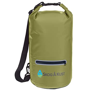 Skog Å Kust DrySåk Waterproof Floating Dry Bag with Exterior Zippered Pocket   for Kayaking, Rafting, Boating, Swimming, Camping, Hiking, Beach, Fishing   10L & 20L Sizes