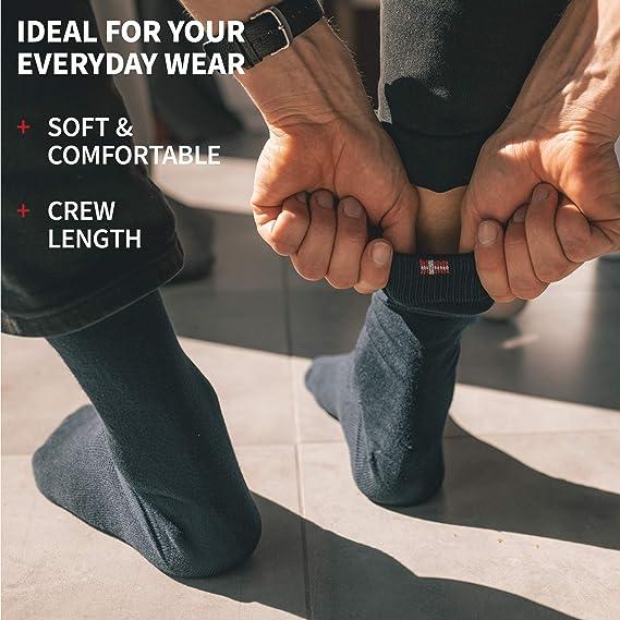 Corte Cl/ásico Calcetines Ejecutivos Super Suaves Pies Frescos DANISH ENDURANCE Calcetines de Bamb/ú para Hombre y Mujer C/ómodos Transpirables y Duraderos Pack de 3 Negro
