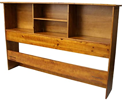 Stockholm Bamboo Solid Bookcase Headboard Full Queen Size Medium Oak