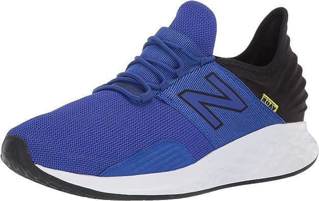 New Balance Men's Roav V1 Fresh Foam Running Shoe, Uv Blue/Black/Bleached Lime Glo, 11.5 D US