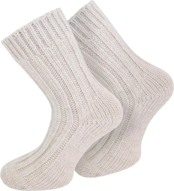 2 Paar Sehr warme Alpaka Wollsocken für Damen und Herren / wie Handgestrickt ! waschmaschienenfest ! in verschiedenen Farben zur Auswahl