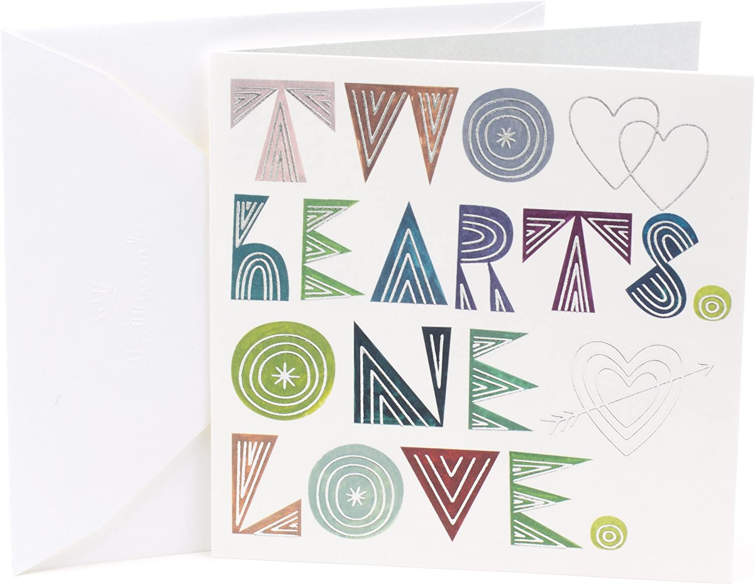 Two Hearts Anniversary Card Engagement Card Wedding Card