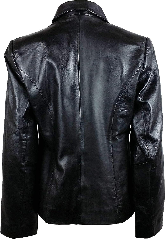 Unicorn Womens Fashion Jacket Real Leather Jacket Black #8U