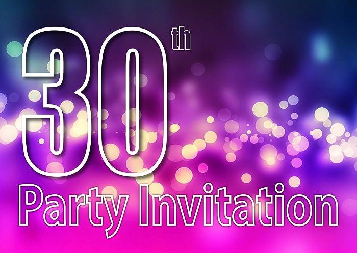 30 Años Reversible Invitaciones De La Fiesta De Cumpleaños Del Tema