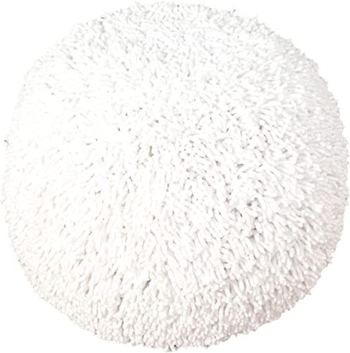 L.R. Resources Dandelion Breeze Shaggy Pouf Ottoman