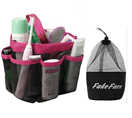 Quick Drying 8 Pockets Hanging Toiletry Makeup Cosmetic Bath Shower  Organizer Storage Tote Mesh Bag Durable