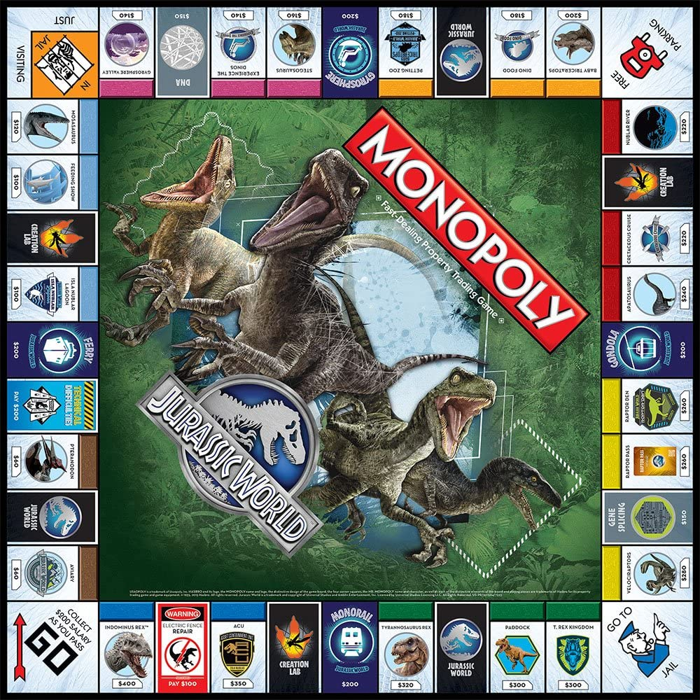 Monopoly: Jurassic World Edition: USAopoly: Amazon.es: Juguetes y juegos