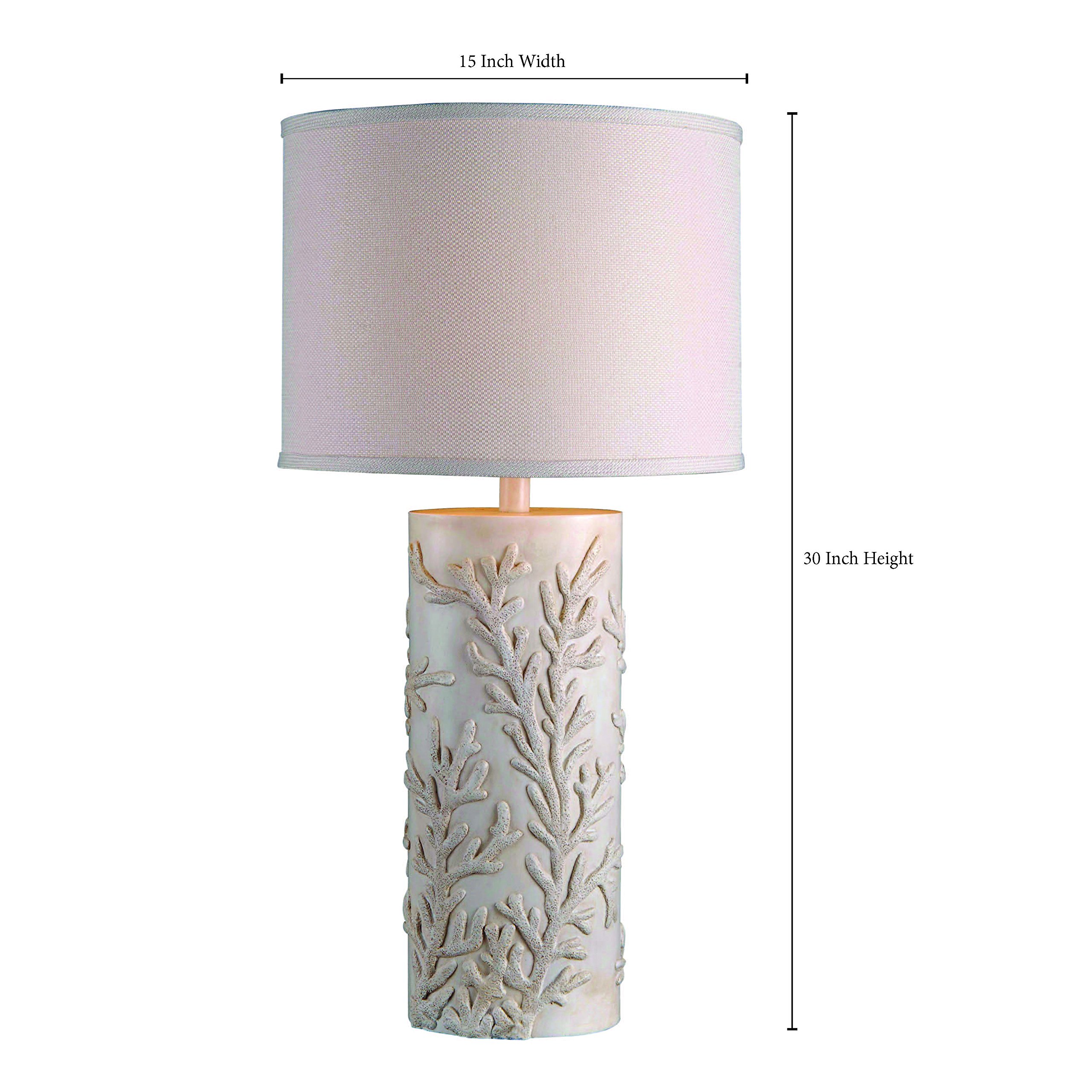 Kenroy Home 32267AWH Reef Table Lamp, Antique White Finish by Kenroy Home (Image #3)