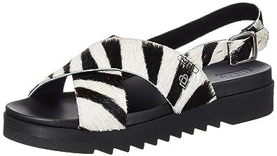 LS172050 Calf, Sandales Femme, Multicolore (Zebra Hyena Grey), 40 EULiebeskind